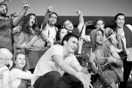 Mike O. and Godspell Cast