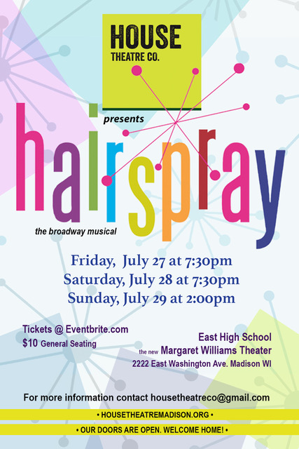 Hairspray postcard flattened